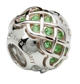 S/S Swarovski Crystal Celtic Knot Peridot Bead