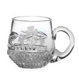 Galway Crystal Shamrock Christening Mug