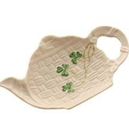 Belleek Shamrock Spoon Holder
