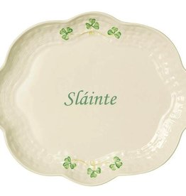 Belleek Slainte Shamrock Tray