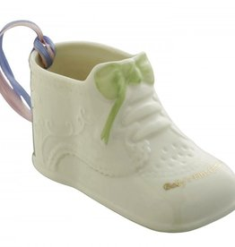 Belleek Baby's First Christmas Shoe Ornament