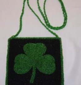 Shamrock Beaded Purse