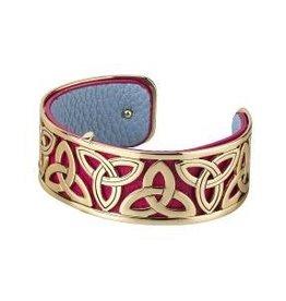 GP & Leather Narrow Trinity Knot Bangle