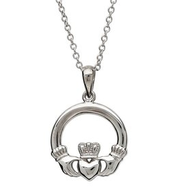 S/S Small Claddagh Pendant