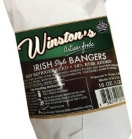 Winstons Winston's Irish Pork Sausage Bangers 16oz