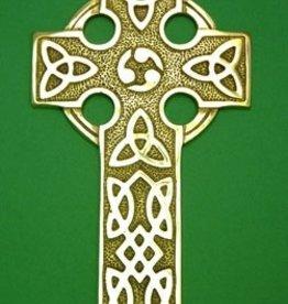 Large Brass Celtic Cross
