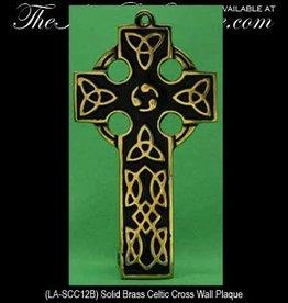 Medium Black/Brass Celtic Cross