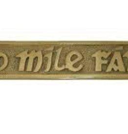 Cead Mile Failte - Medium Brass Wall Plaque