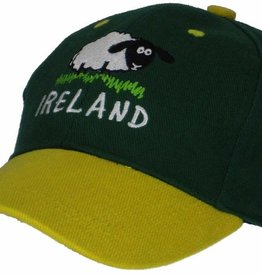 Kid's Sheep Ireland Baseball Cap, Bottle Green, O/S