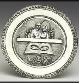 Pewter Wedding Plaque/Plate