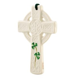 Belleek St. Kieran's Cross Ornament
