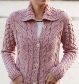 Aran Woollen Mills Unlimited Buttoned Cabled Cardigan