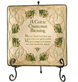 Celtic Christmas Blessing Platter