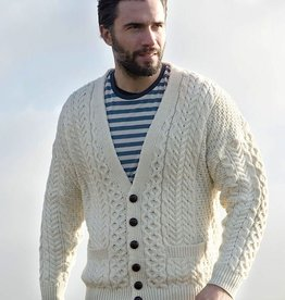 Aran Woollen Mills Unlimited V-Neck Cardigan