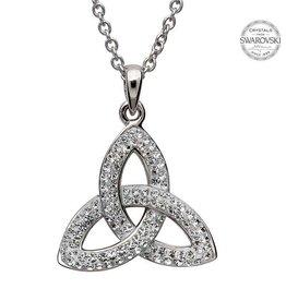 S/S Swarovski Trinity Knot Necklace