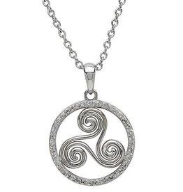 S/S Swarovski Triscal Celtic Necklace