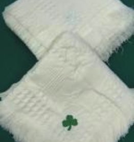 Baby Blanket with White Shamrock