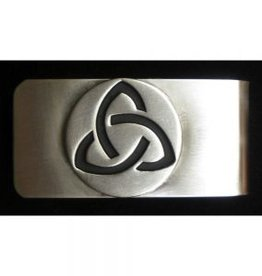 Trinity Knot Money Clip - Brushed Pewter