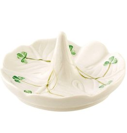 Belleek Shamrock Ring Holder