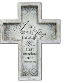Can Do All Things Framed Cross