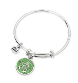 Rhodium Enamel Dance Shoes Kids Bangle
