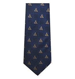 Navy Celtic Knot Silk Tie