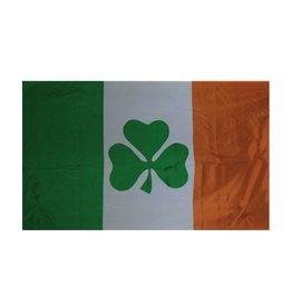 3x5 Ireland Flag with Shamrock