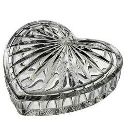 Galway Crystal Heart Trinket Box 4x4