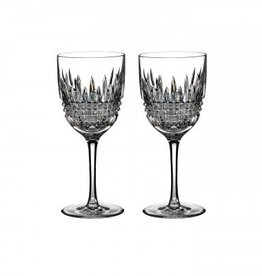 Waterford Lismore Diamond Goblet Pair