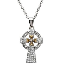 S/S Swarovski Celtic Cross