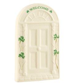 Belleek Welcome Door Wall Plaque