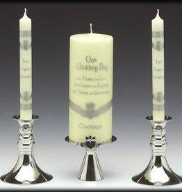 Pewter Claddagh Unity Candleholder