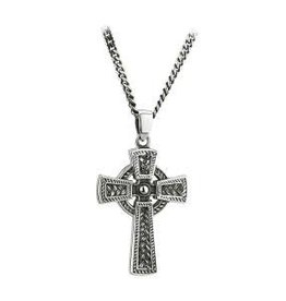 S/S Oxidised Celtic Cross Pendant