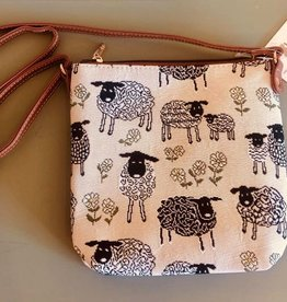 Tapestry Sling Bag, Sheep & Daisy