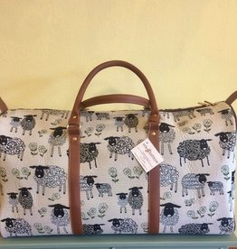 Tapestry Big Holdall Bag, Sheep & Daisy, White
