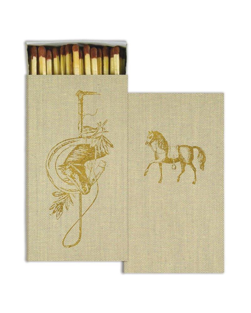 HomArt Matches - Equestrian Crest - Gold Foil  - Set of 3