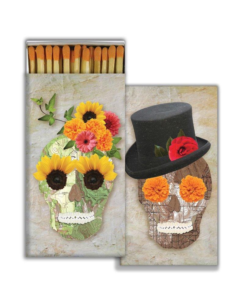 HomArt Matches - Skull Collage - Orange  - Set of 3
