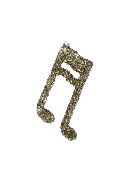 HomArt Glass Music Note Glitter Ornament