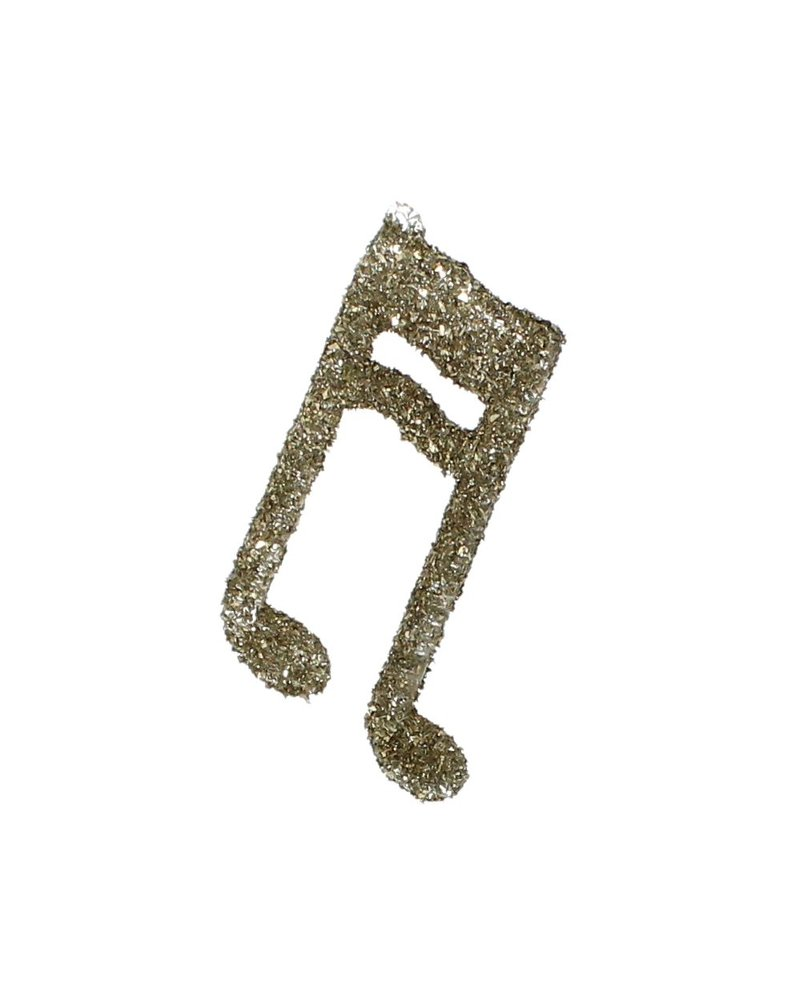 HomArt Glass Music Note Glitter Ornament