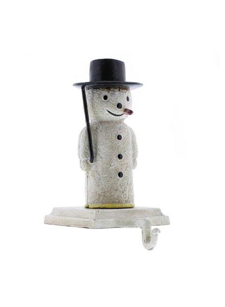 HomArt Snowman Stocking Holder - Cast Iron