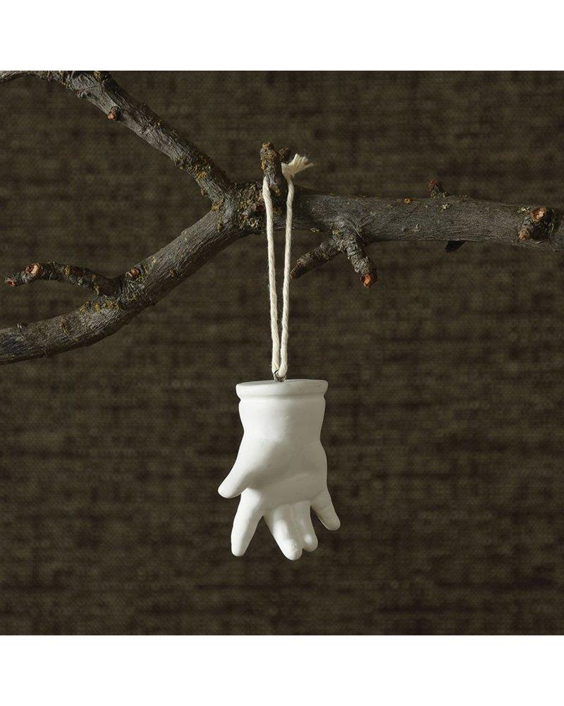 HomArt Bone China Milagro Ornament - Hand-White