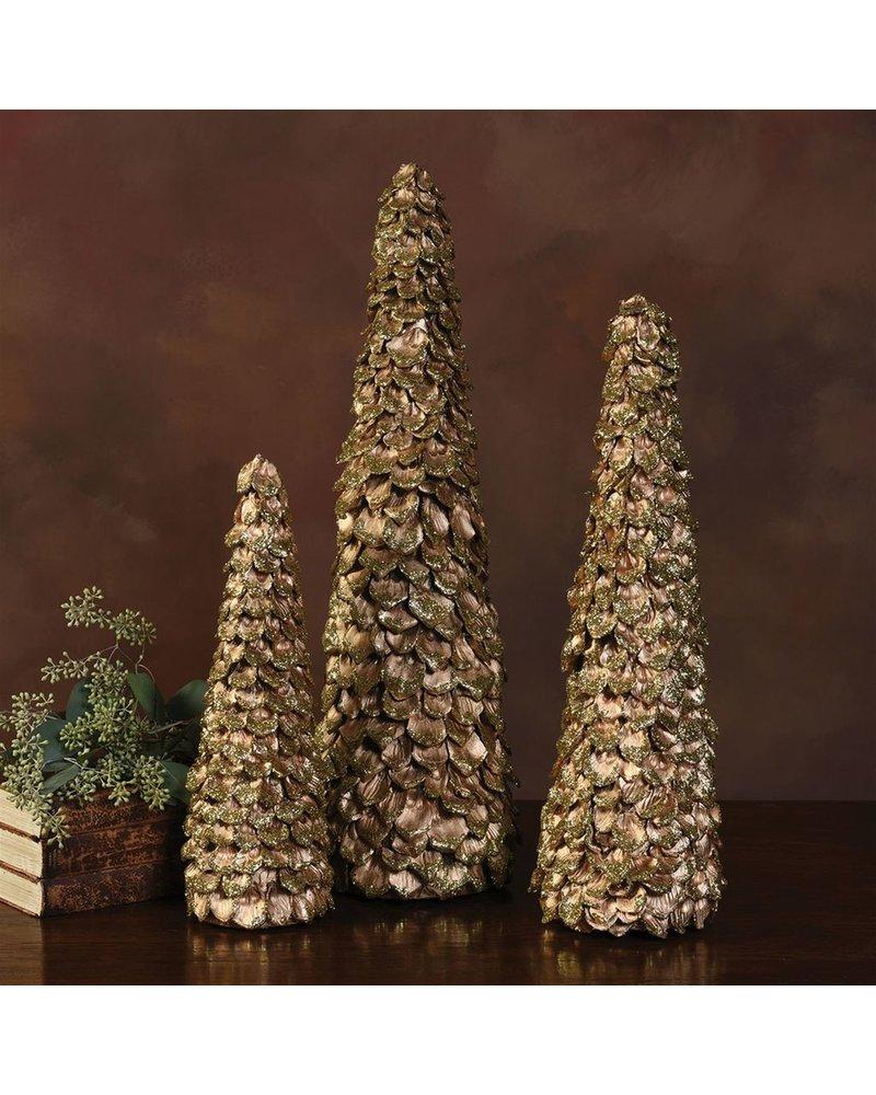 HomArt Gold Petal Pod Tree - Lrg
