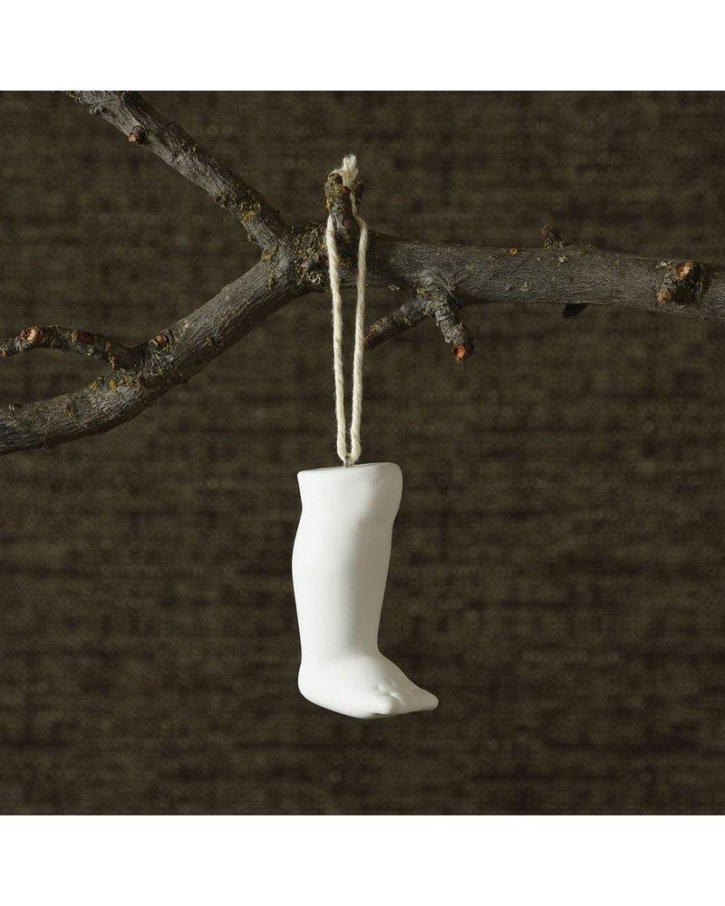 HomArt Bone China Milagro Ornament - Leg-White