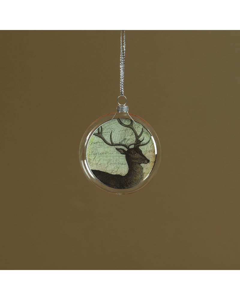 HomArt Collage Glass Ornament Deer