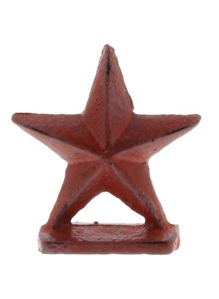 HomArt Red Star Cast Iron Placecard Holder
