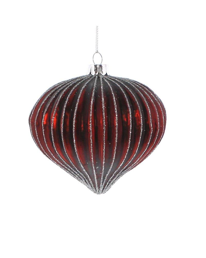 HomArt Glass Red Bulb Ornament