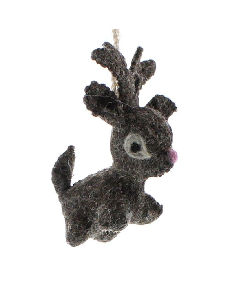 HomArt Felt Reindeer Ornament