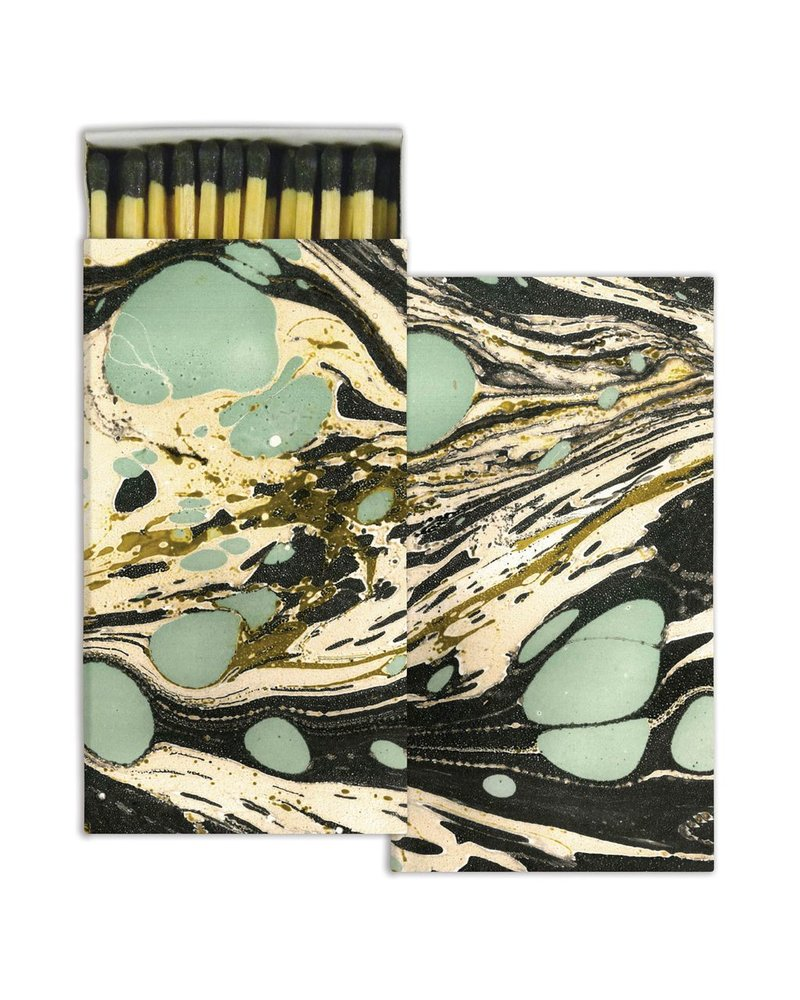HomArt Aqua Marbleized Paper Matches - Set of 3 Boxes