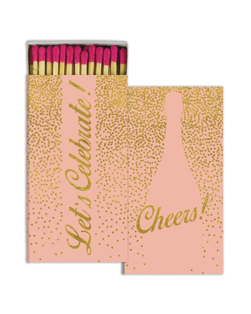 HomArt Cheers - Gold Foil - Matches Set of 3 Boxes