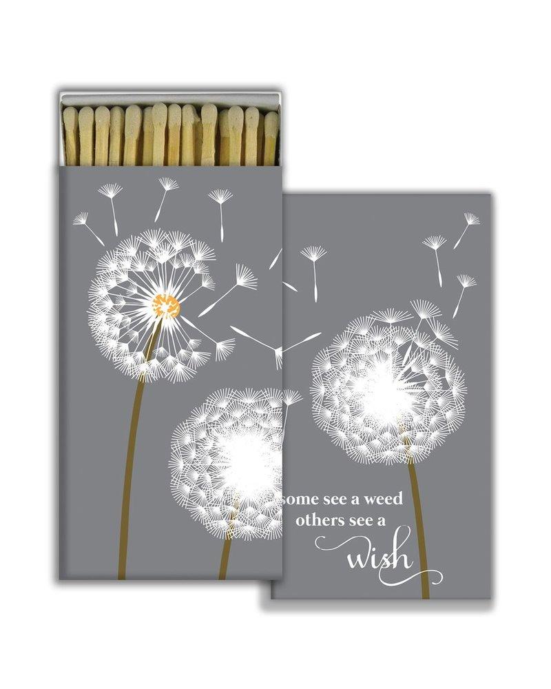 HomArt Matches - Dandelion - White - Set of 3